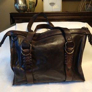 Frye Satchel Bag with Rivets